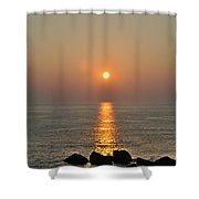 Sunrise On The Ocean Shower Curtain