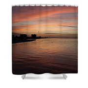 Sunrise Over Fort Myers Beach Photo Shower Curtain