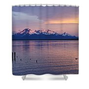 Sunrise Over Ultima Esperanza Shower Curtain