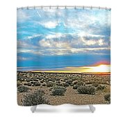Sunset At Alstrom Point In Glen Canyon National Recreation Area-utah Shower Curtain