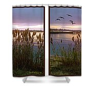 Sunset At Fort Smallwood Shower Curtain