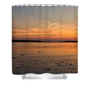 Sunset At Loch Bay Shower Curtain