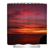 Sunset By The Sea Shower Curtain