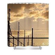 Sunset Fence Shower Curtain