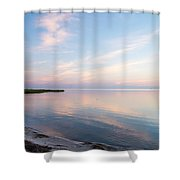 Sunset In The Sound Shower Curtain