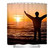 Sunset Shower Curtain by Michal Bednarek