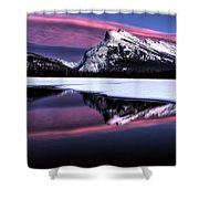 Sunset Mount Rundle Shower Curtain