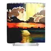 Sunset On The Island Shower Curtain