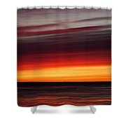 Sunset On The Sea Shower Curtain