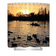Sunset On The Thames At Walton Shower Curtain