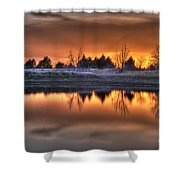 Sunset Over Bryzn Shower Curtain