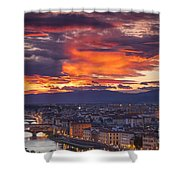 Sunset Over Florence Shower Curtain