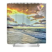 Sunset Over Lake Superior, Keweenaw Shower Curtain