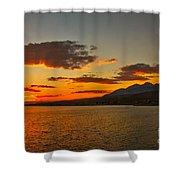 Sunset Over Mackay Reservoir Shower Curtain