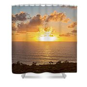 Sunset Over The Pacific Ocean, Torrey Shower Curtain