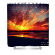 Sunset Puddle Reflections Shower Curtain