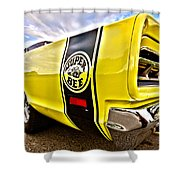 Super Close Super Bee  Shower Curtain