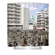 Super Dense Cemetery In Tokyo Shower Curtain