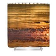 Supertanker Sunset V6 Shower Curtain