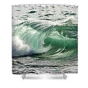 Surf Zone At The Barents Sea Coast Shower Curtain