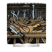 Surgical Equipment 16th Century Shower Curtain by Science Source