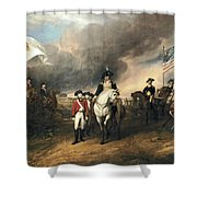 Surrender Of Lord Cornwallis Shower Curtain by John Trumbull