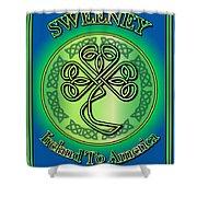 Sweeney Ireland To America Shower Curtain