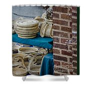 Charleston Sweet Grass Baskets Shower Curtain