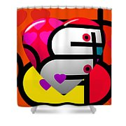 Sweet Heart Shower Curtain