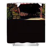 Swift River Covered Bridge Shower Curtain by Jeff Folger
