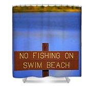 Swim Beach Sign II Shower Curtain