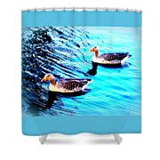 Swim With Me To The End Of Time  Shower Curtain
