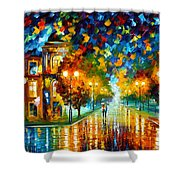 Swimming Sky Shower Curtain by Leonid Afremov