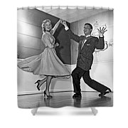 Swing Dancing Couple Shower Curtain