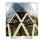Swiss Re Tower In London Shower Curtain