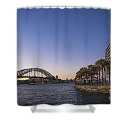 Sydney Harbour In Australia By Night Shower Curtain