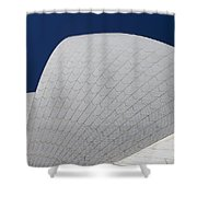 Sydney Opera House Roof Tiles Shower Curtain