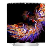 Symbol Of Fire Shower Curtain by Lourry Legarde