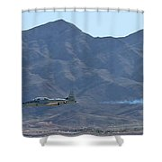 T-33 Shooting Star Flyby Nellis Shower Curtain