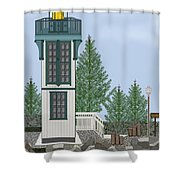 Table Bluff Lighthouse California Shower Curtain