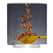 1 Tablespoon Red Pepper Flakes Shower Curtain