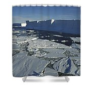 Tabular Iceberg With Broken Fast Ice Shower Curtain