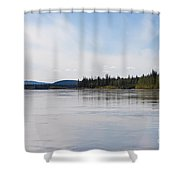 Taiga Hills At Yukon River Near Dawson City Shower Curtain
