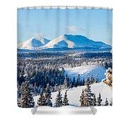 Taiga Winter Snow Landscape Yukon Territory Canada Shower Curtain