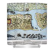 Taking Of St. Augustine Shower Curtain