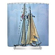 Tall Ship Harvey Gamage Shower Curtain