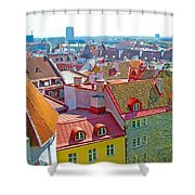 Tallinn From Plaza In Upper Old Town-estonia Shower Curtain