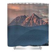 Tantalus Mountain Sunset - British Columbia Shower Curtain