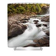 Tawhai Falls In Tongariro Np New Zealand Shower Curtain