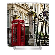 Telephone Box In London Shower Curtain